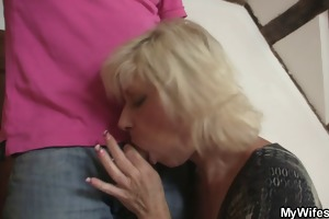 golden-haired mama seduces her son in law