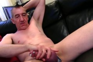 pierced str marc jerking off his pounder