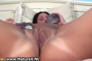 slutty breasty older housewife satisfying