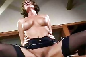 milf tramp with large bazookas in nylons has