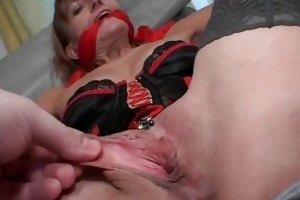 older redhead in lingerie acquires her part4